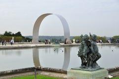 大别墅de凡尔赛喷泉  免版税库存照片