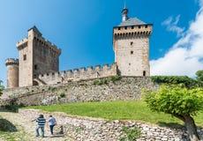 大别墅de富瓦城堡,法国 免版税图库摄影