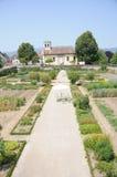 大别墅De普朗然城堡庭院  免版税库存照片
