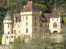 大别墅de法国gageac la malartrie roque 免版税库存图片