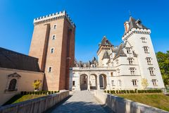 大别墅de波城城堡,法国 免版税库存照片