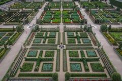 大别墅de科隆比耶尔,法国庭院  免版税库存图片