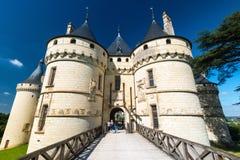 大别墅de肖蒙苏尔卢瓦尔河,法国 库存照片
