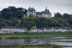 大别墅de肖蒙,卢瓦尔河流域,法国 库存图片