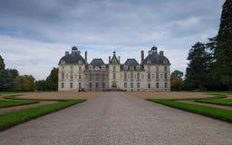 大别墅de谢韦尔尼,卢瓦尔河流域,法国 免版税库存照片