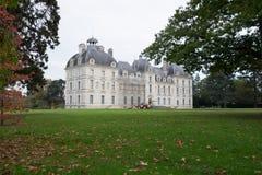 大别墅de谢韦尔尼,卢瓦尔河流域,法国 库存图片