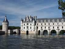 大别墅de Chenonceau。 Loire Valley。 法国 免版税图库摄影