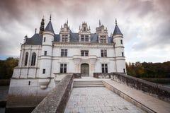 大别墅de Chenonceau门面,法国 免版税库存照片