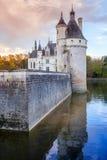 大别墅de Chenonceau,中世纪城堡 免版税库存图片