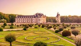 大别墅de Chenonceau,城堡在法国 免版税库存图片