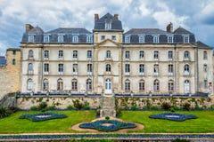 大别墅de l'Hermine是在城堡修造的一个老堡垒消失 免版税库存图片