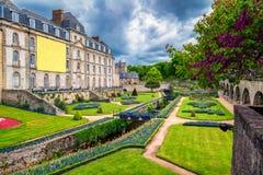 大别墅de l'Hermine是在城堡修造的一个老堡垒消失 库存照片