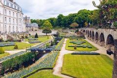 大别墅de l'Hermine是在城堡修造的一个老堡垒消失 图库摄影