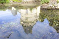 大别墅de l'Islette水反射 库存图片