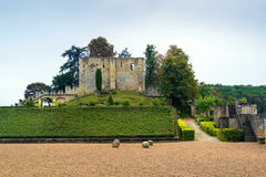 大别墅de Langeais, 10世纪的废墟保持, Fra 免版税库存图片
