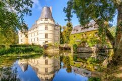 大别墅de lIslette,城堡在法国 图库摄影