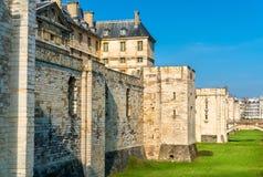 大别墅de Vincennes,在巴黎附近的第14个和17世纪皇家堡垒在法国 库存图片