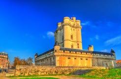 大别墅de Vincennes,在巴黎附近的第14个和17世纪皇家堡垒在法国 免版税库存图片