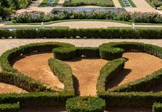 大别墅des Milandes,一座城堡庭院在多尔多涅省,从四十年代到20世纪的60属于 库存照片