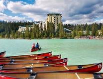 大别墅fairmont Lake Louise 免版税图库摄影