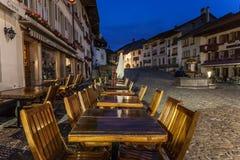 大别墅La格律耶尔,瑞士 免版税库存图片