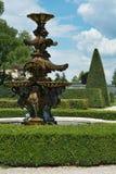 大别墅Lednice,法国公园 免版税图库摄影