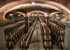 大别墅margaux酿酒厂地窖,红葡萄酒,法国 库存照片