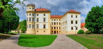 大别墅Straznice cesky捷克krumlov中世纪老共和国城镇视图 摩拉维亚 免版税库存图片