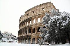 大剧场包括雪 库存照片