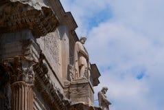 大剧场圆形露天剧场在罗马意大利 库存照片
