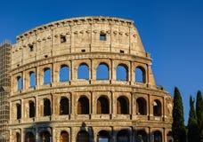 大剧场废墟部份看法  意大利,罗马 库存图片