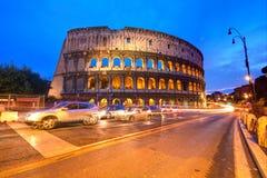 大剧场意大利晚上罗马 库存图片