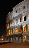 大剧场colosseo意大利晚上罗马罗马 免版税图库摄影
