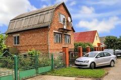 大剪报系列房子包括的路径 库存图片