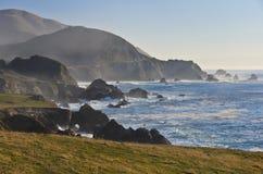 大加利福尼亚中央海岸蒙特里sur 免版税图库摄影