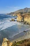 大加利福尼亚中央海岸蒙特里sur 免版税库存照片