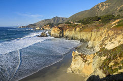 大加利福尼亚中央海岸蒙特里sur 图库摄影