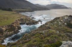 大加利福尼亚中央海岸蒙特里sur 免版税库存图片