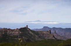 从大加那利岛山的看法 免版税库存图片