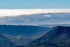 大加那利岛海岛山从高山皮库岛de las涅韦斯环境美化,观看 库存照片