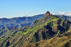 大加那利岛风景, Roque Bentayga 免版税库存照片