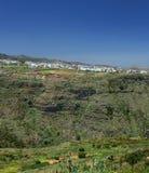 大加那利岛,内地nortern零件, Barranco de Azuaje 库存照片