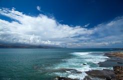 大加那利岛,在拉斯帕尔马斯边缘的El Confital海滩 免版税图库摄影