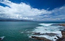 大加那利岛,在拉斯帕尔马斯边缘的El Confital海滩 图库摄影