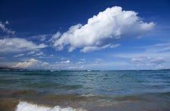 大加那利岛,在海洋的美丽的轻的云彩 库存图片