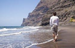 大加那利岛,海滩Playa de Guigui 免版税库存照片