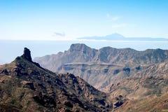大加那利岛,金丝雀ISLANDS/SPAIN- 2月21日:一个风景看法 免版税库存图片