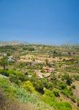 大加那利岛, Barranco de圣诞老人Brigida 库存图片