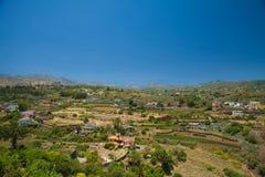 大加那利岛, Barranco de圣诞老人Brigida 免版税库存照片