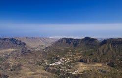 大加那利岛,从Pico de Las Nieves的看法 库存图片
